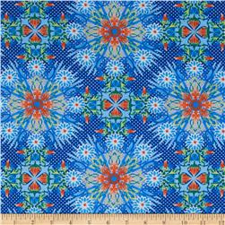 Treasures of Nature Under the Sea Collage Blue/Orange