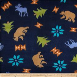 Fleece Print Daniel Boone Navy
