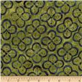 Timeless Treasures Tonga Batiks Bluegrass Quatrefoil Fizz