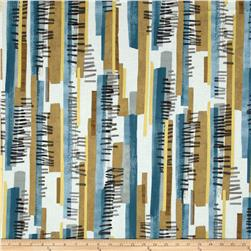 Contempo Precious Metals Stripe Teal/Golden