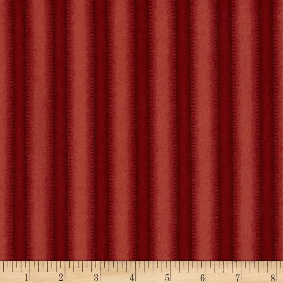 Crazy for Christmas Flannel Stripe Red