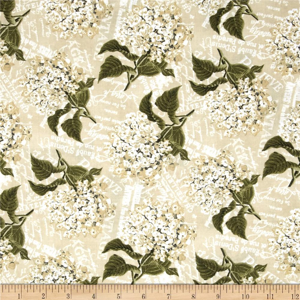 Vintage Garden Packed Floral Cream