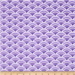 Comfy Flannel Scallops Purple