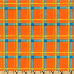 Minky Cuddle Plaid Orange