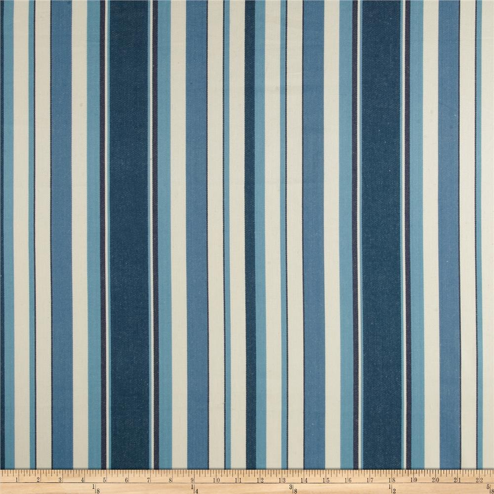 Stripe Twill Blue/Natural