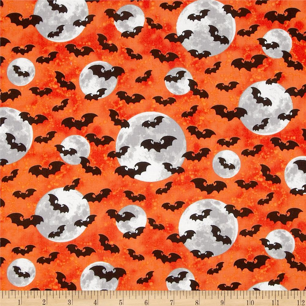 Ghosts & Ghouls Bats & Moon Orange