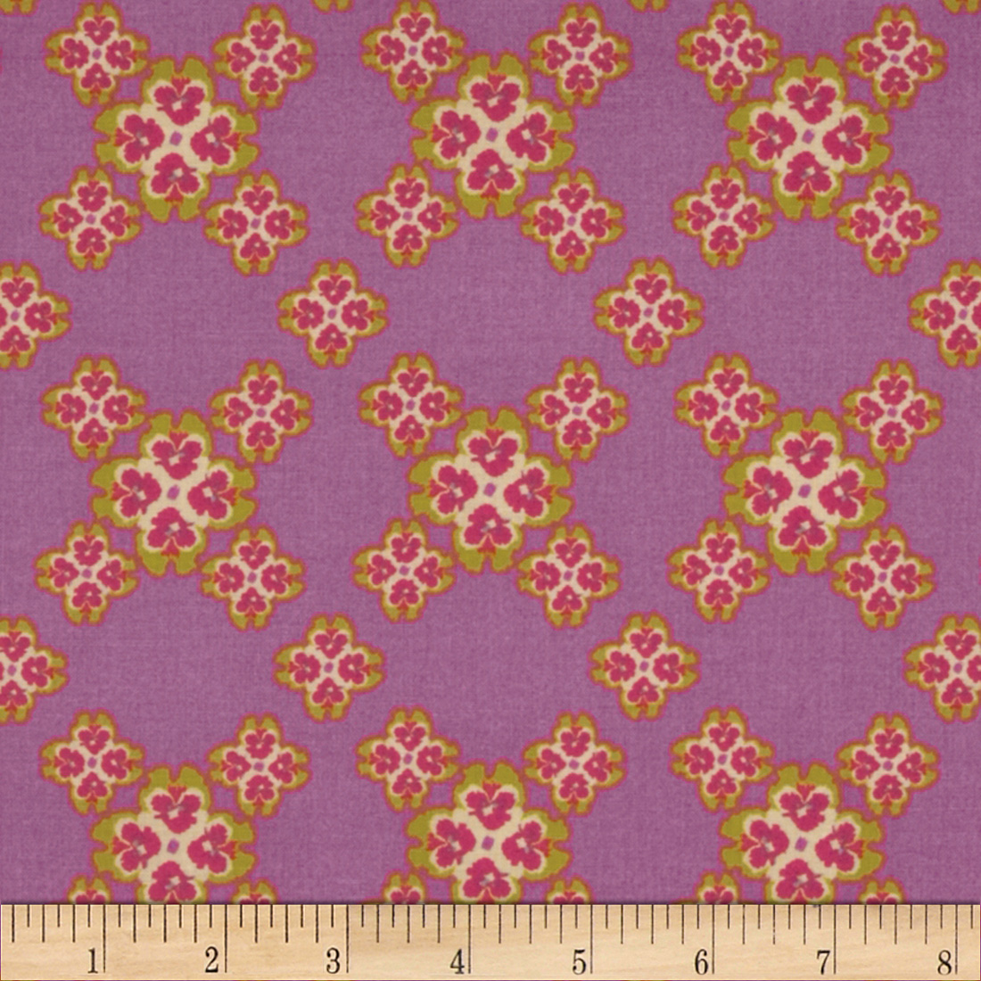 Secret Garden Cross Your Heart Pebble Pink Fabric