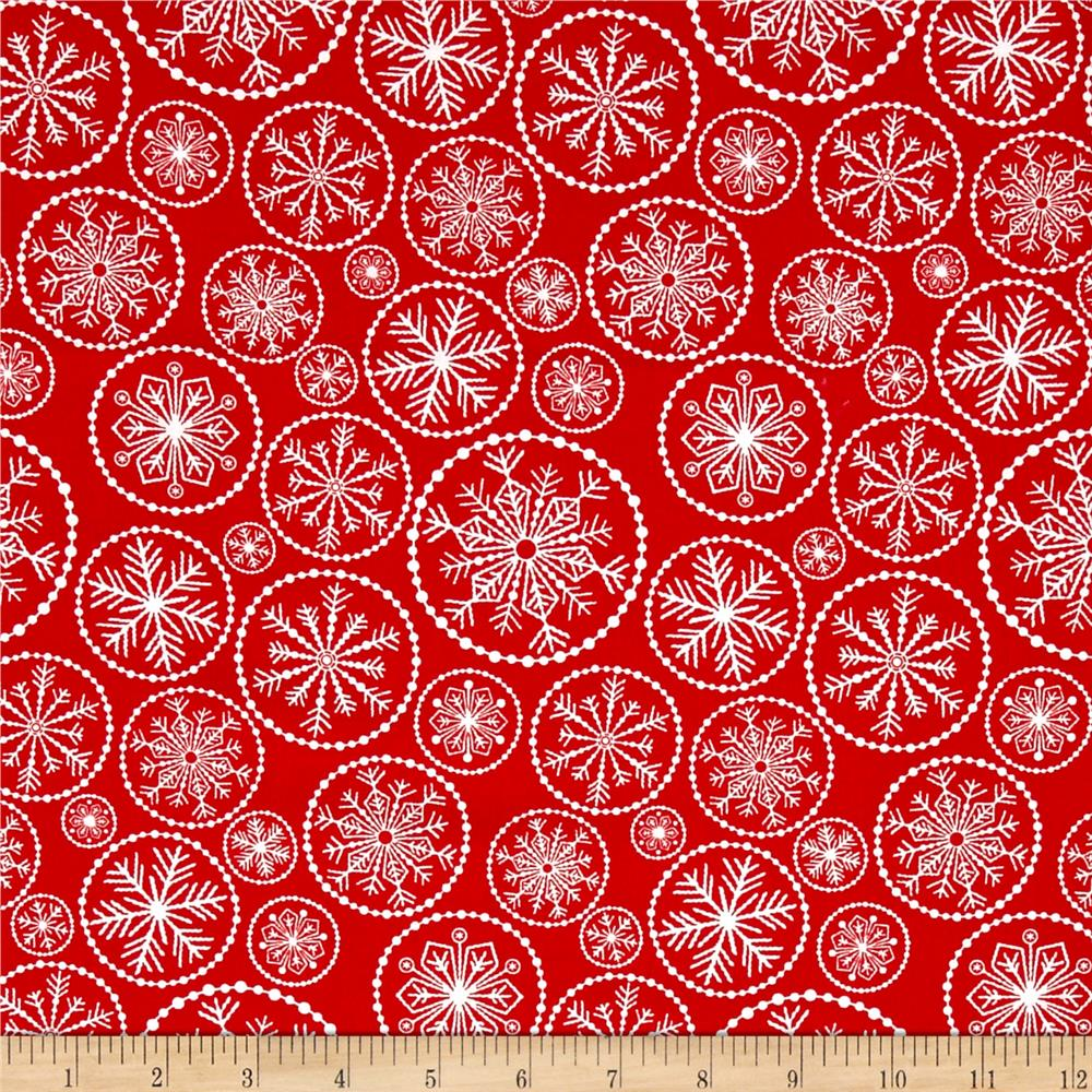 Winter Essential IV Large Snowflake Red
