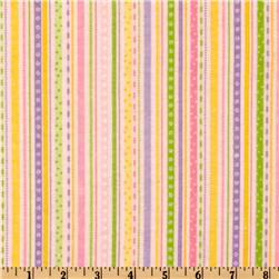 Riley Blake Bitty Baby Flannel Stripes Pink