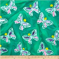 Indian Batik Hand Painted Butterfly Jade