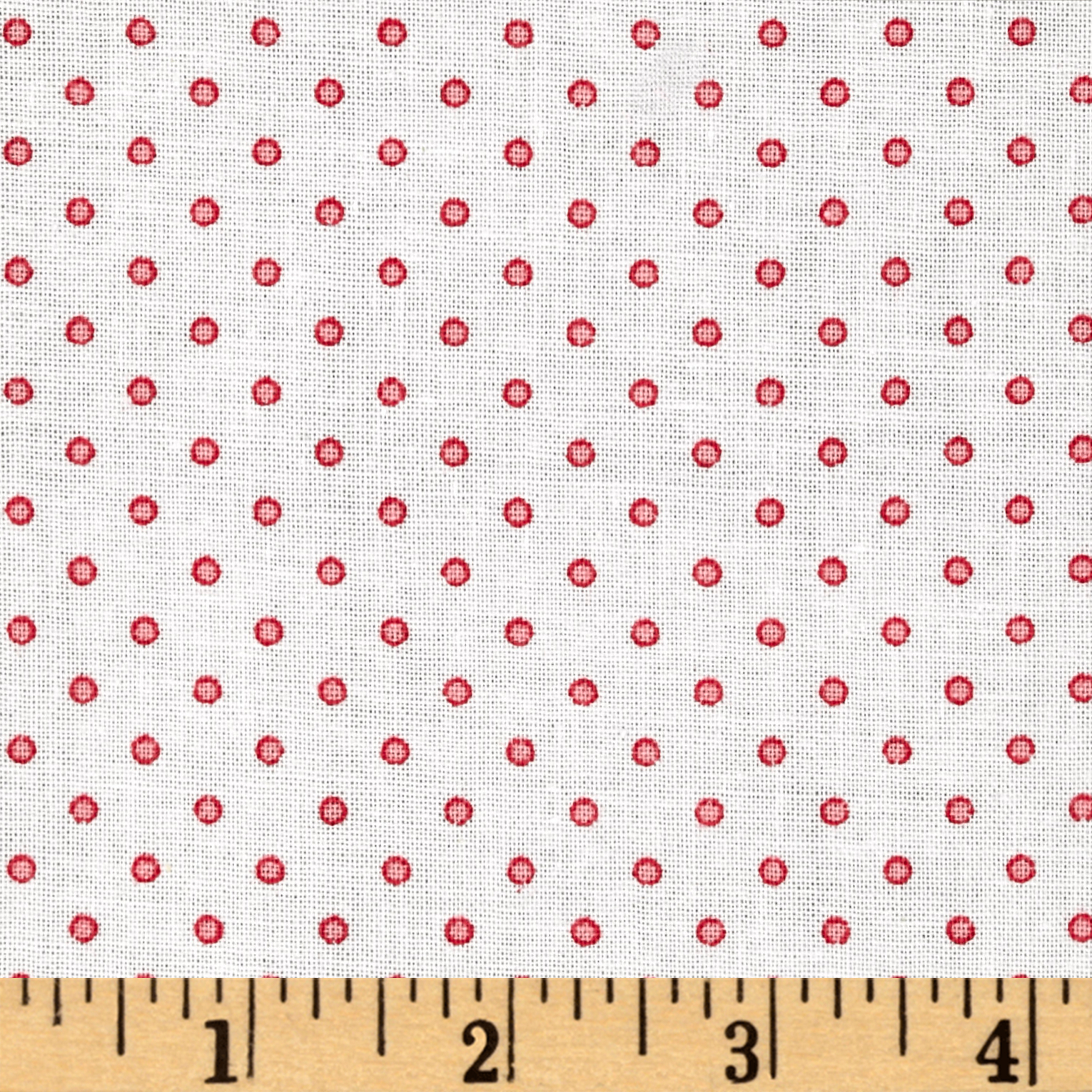 Basically Wide 108'' Quilt Back Dots White/Pink Fabric by Red Rooster in USA
