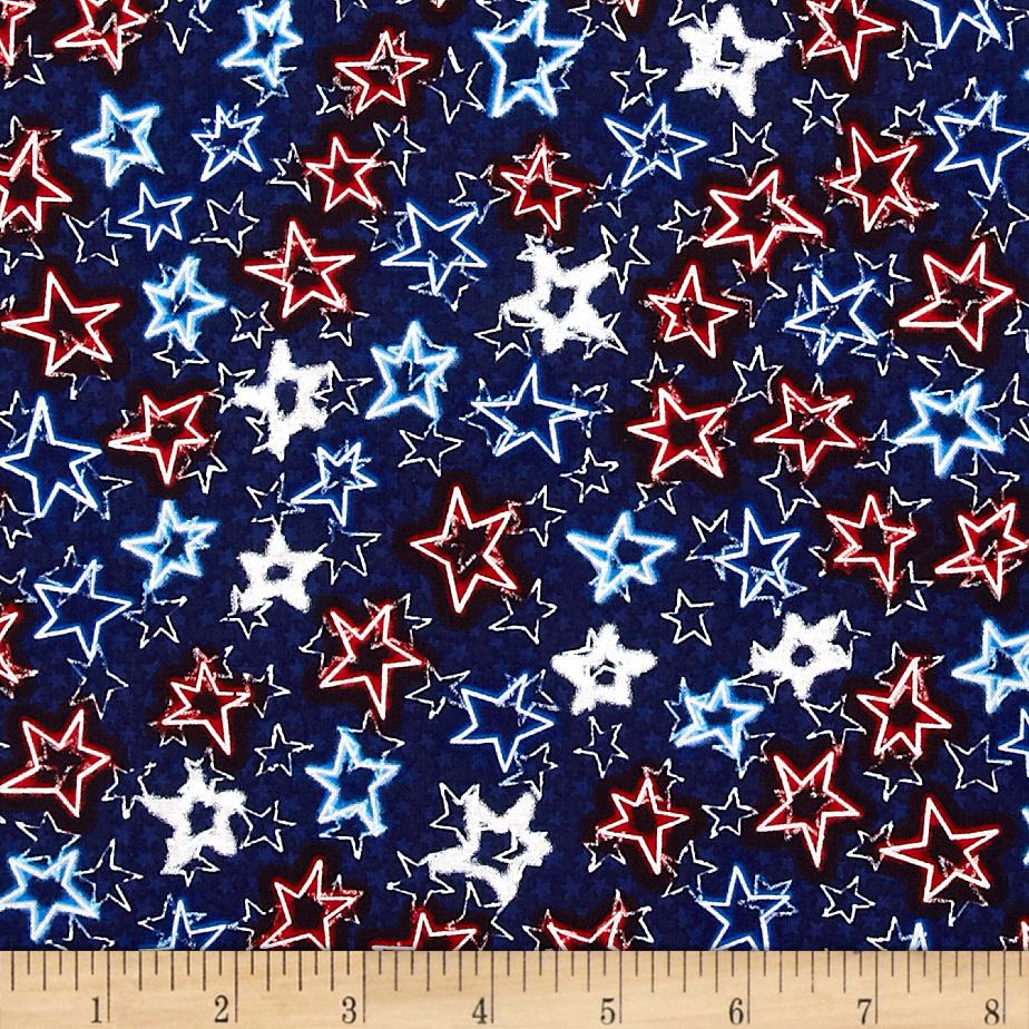 Kanvas All Stars Neon Stars Navy
