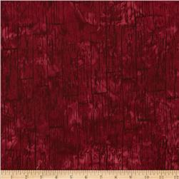 Bali Batiks Acres To Sew Wood Plank Cranberry