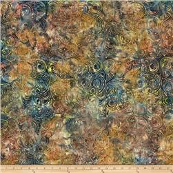 Timeless Treasures Tonga Batik Topaz Waves Mountain