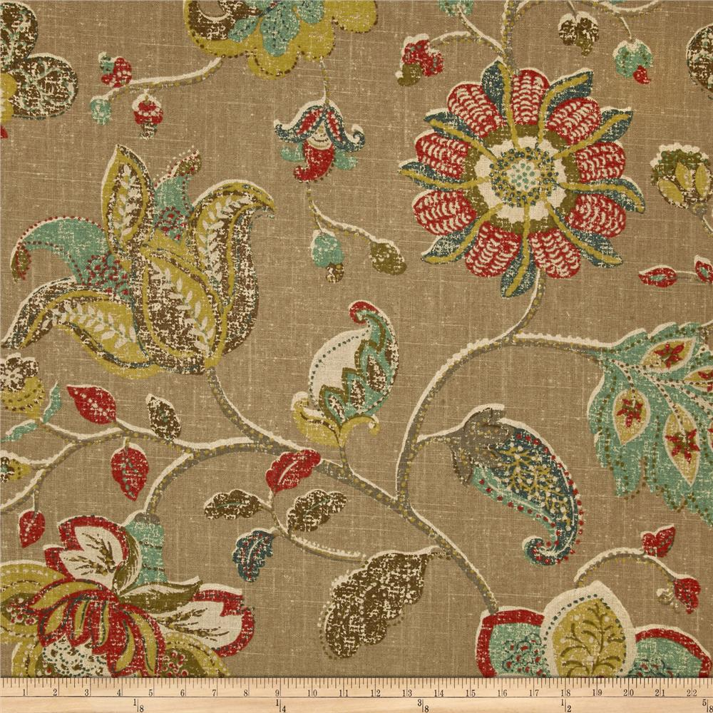 Robert Allen Spring Mix Linen Blend Pomegranite