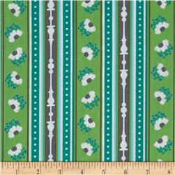 Michael Miller Peacock Lane Ticking Stripe Turquoise