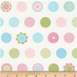 Cozy Cotton Flannel Multi Dots Pastel Fabric