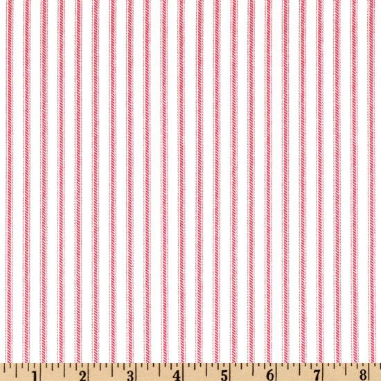 Ticking Stripe Rose Pink/Ivory