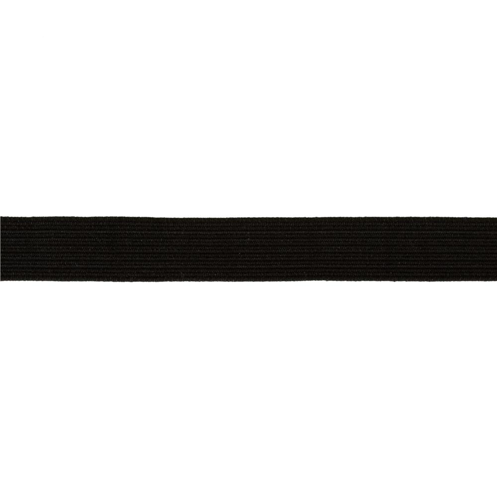 "1/2"" Braided Elastic Black - By the Yard"