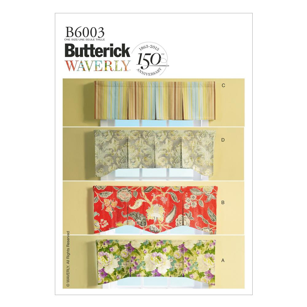 Butterick Window Valances Pattern B6003 Size OSZ