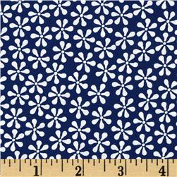 Ditsy Flowers Blue/White