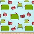 Holiday Sweet Tweets Scattered Furniture Holiday Aqua