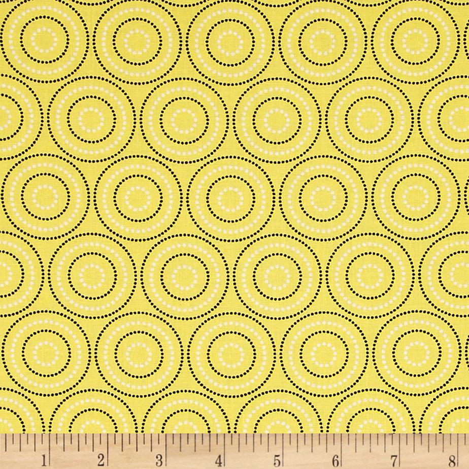 Mellow Yellow Medium Circles Yellow