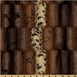 Minky Soft Cuddle Fancy Leopard Brown/Gold Fabric