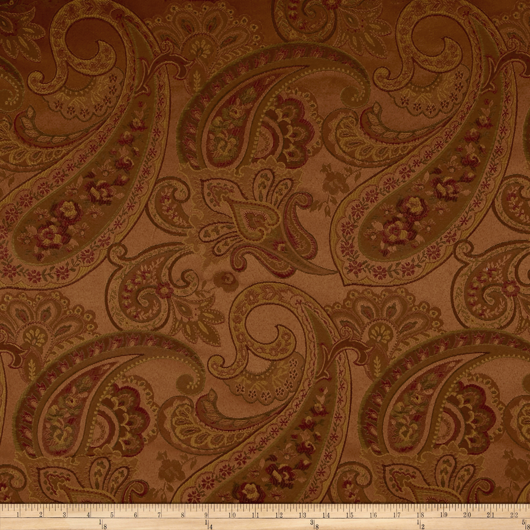 Eroica Candytuft Paisley Jacquard Gem Fabric by Eroica in USA