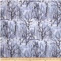 Kanvas The Great North Wilderness Winter Forest Silver Grey