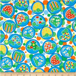 Turtle Time Flannel Turtles White Fabric