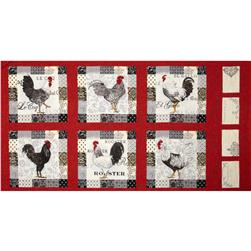 Moda El Gallo Panel Red
