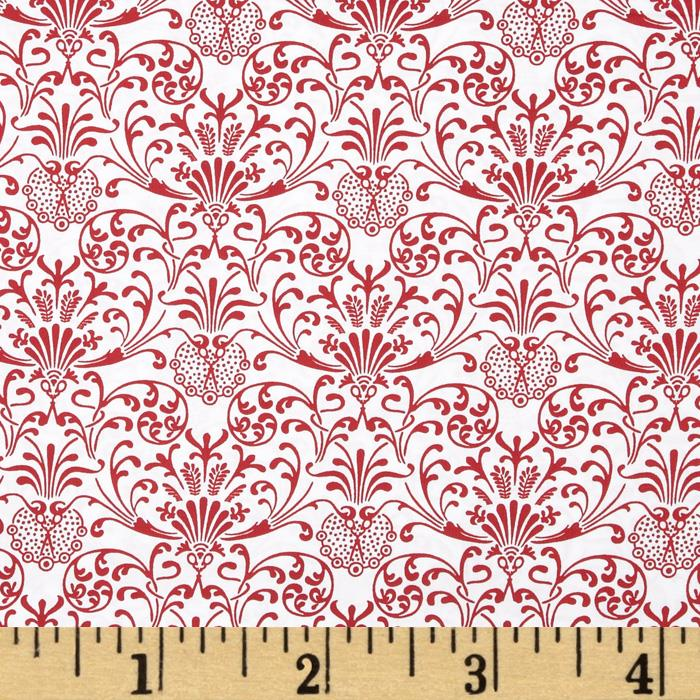 Red Damask White/Red