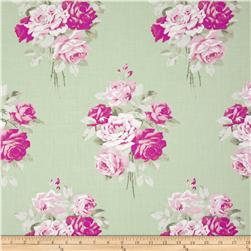 Tanya Whelan Slipper Roses Green