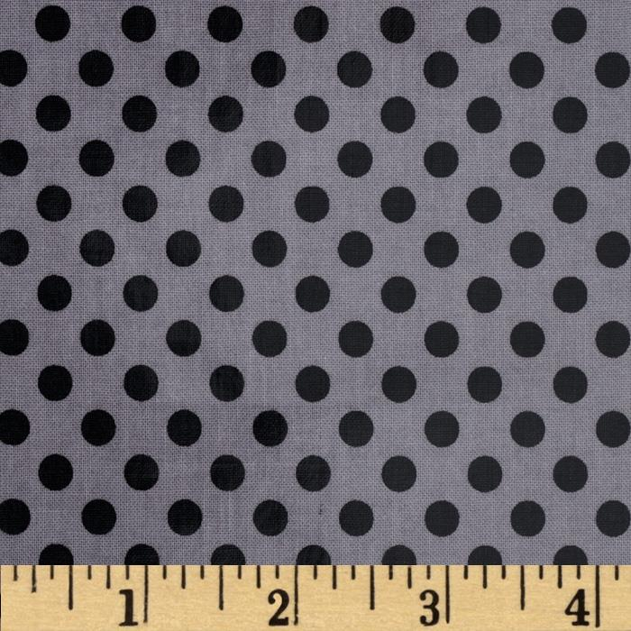 Riley Blake Laminated Cotton Small Dots Black/Gray