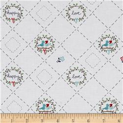 Riley Blake Country Girls Country Birds White Fabric