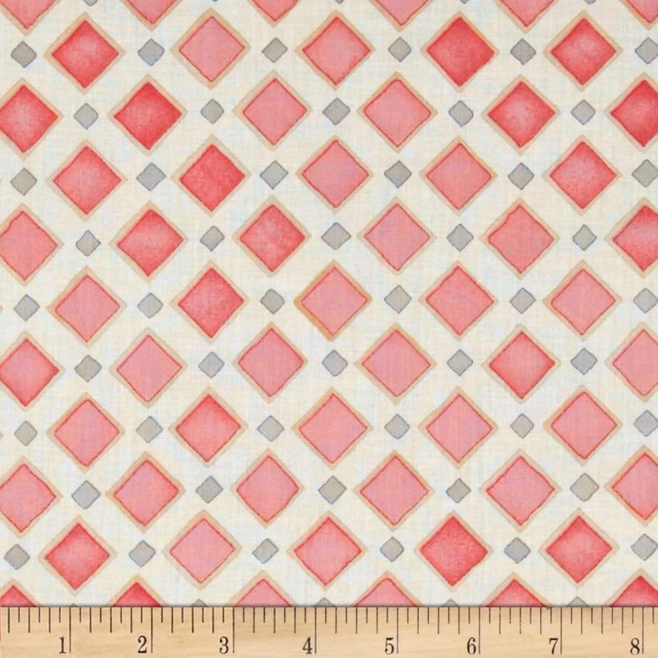 Palos Verdes Organic Voile Malaga Cove Pink/Grey