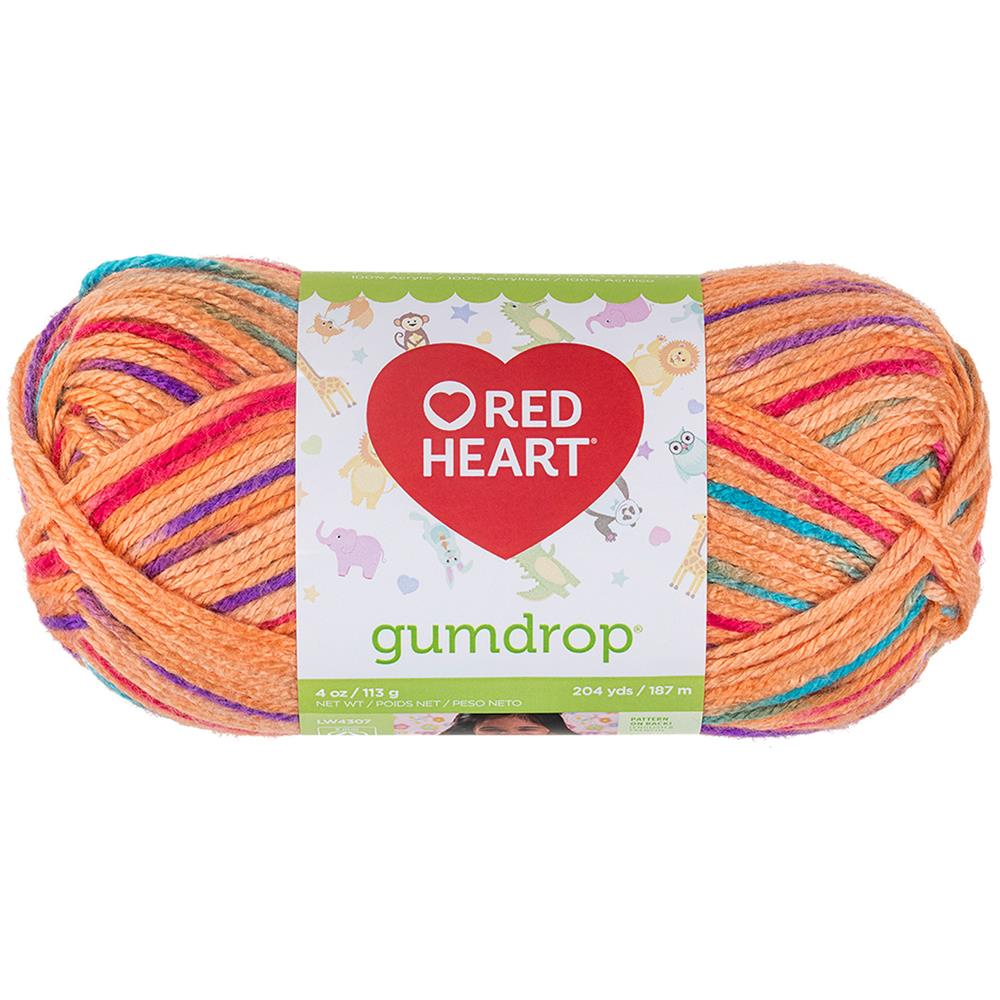 Red Heart Gumdrop Yarn 930 Orange