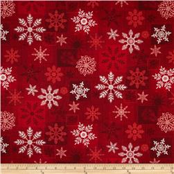 Holiday Magic Large Snowflakes Red