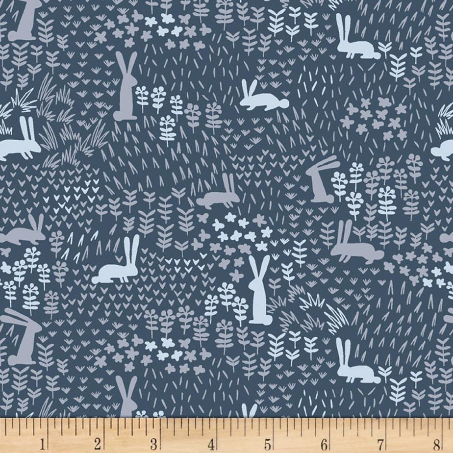 Dear stella the big chill midnight bounce navy discount for Apparel fabric