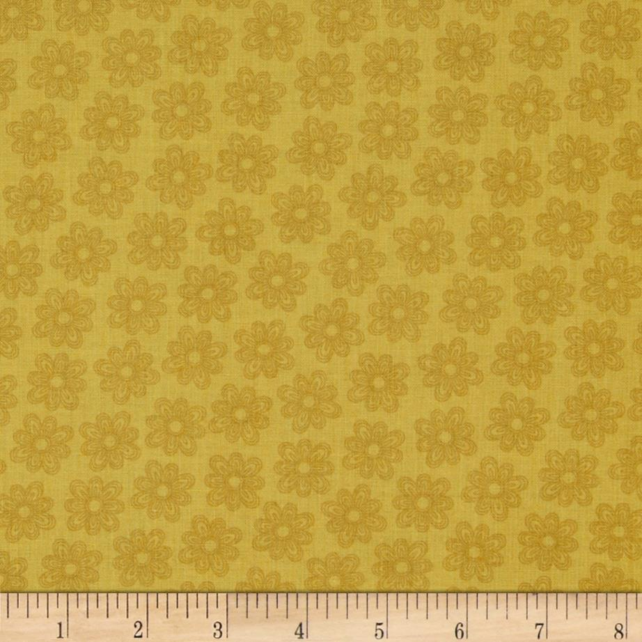 Daisy Garden Plaid Gold