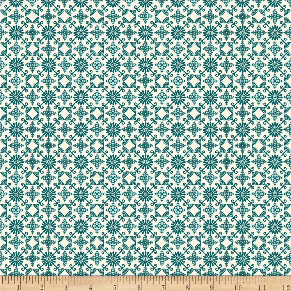 Riley Blake Trail Mix Picnic Teal