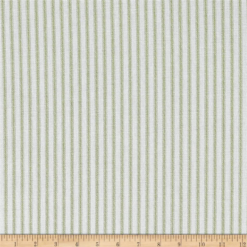 Premier Prints Classic Ticking Stripe Kiwi