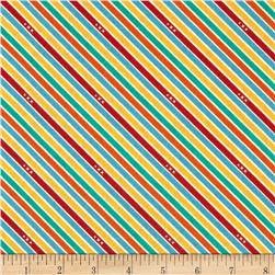 Riley Blake Unicorn & Rainbows Stripe Multi
