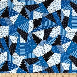 Snow Daze Crazy Quilt Patch Blue