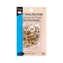 "Dritz Heavy Duty Snaps 5/8"" Gilt"