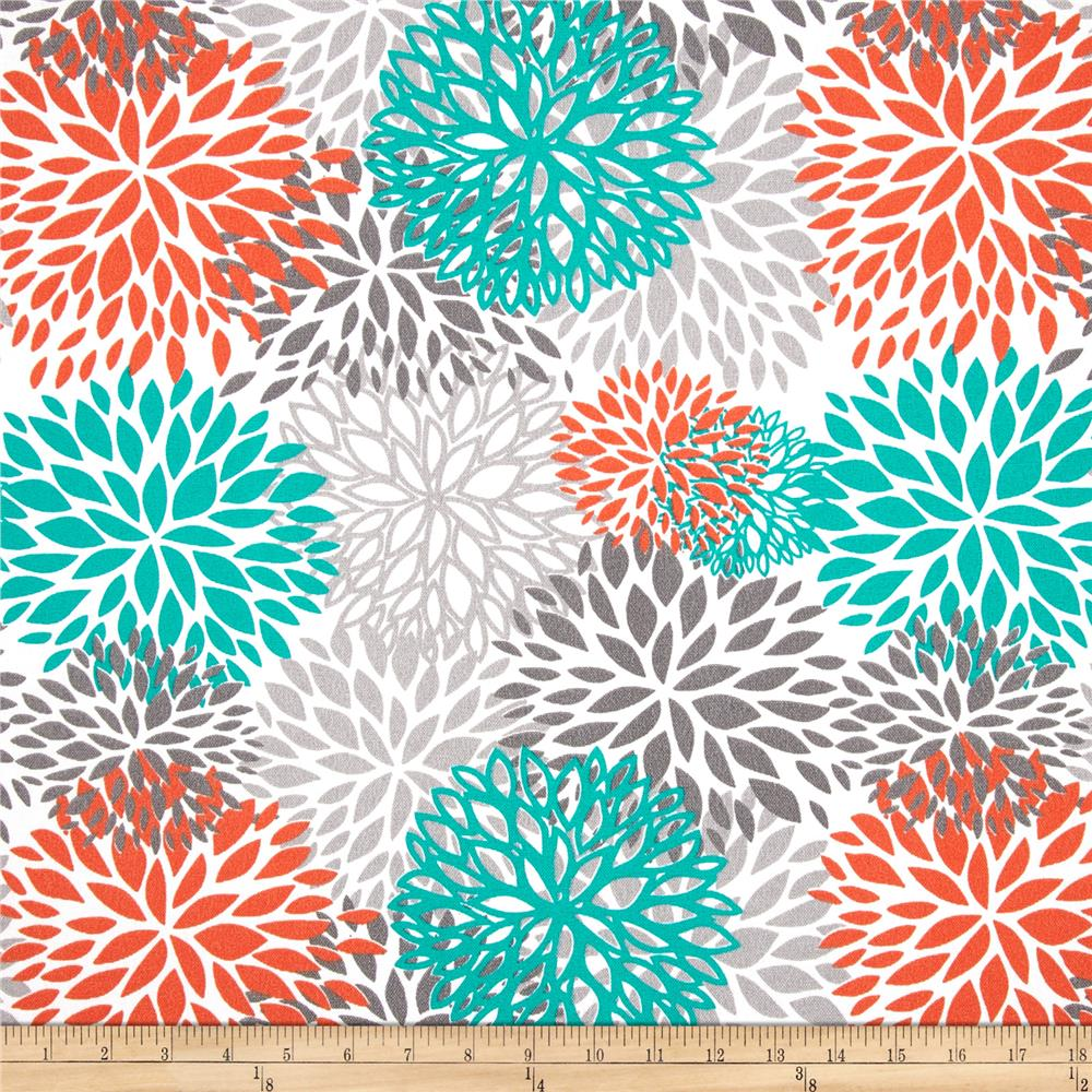 Premier Prints Indoor/Outdoor Blooms Pacific   Discount Designer Fabric    Fabric.com