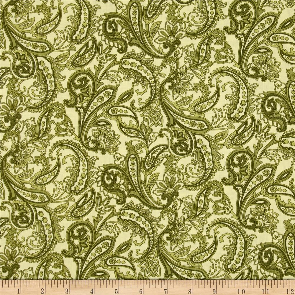 Indian Summer Paisley Cottage Green