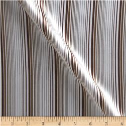 Charmeuse Satin Stripes Brown/Tan Fabric