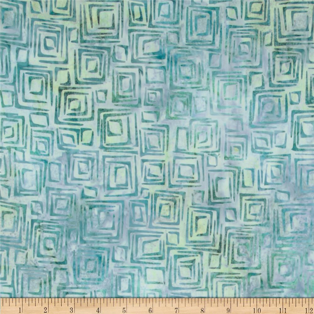 Nature's Textures Batiks Geo Square Sea Glass
